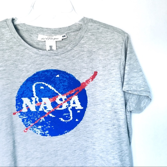 fa3083379df H&M Tops | Hm Reversible Sequin Nasa Space Shuttle Tee | Poshmark